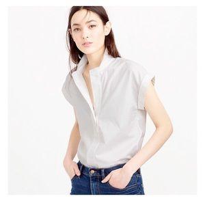 Size 0 White J crew popover shirt